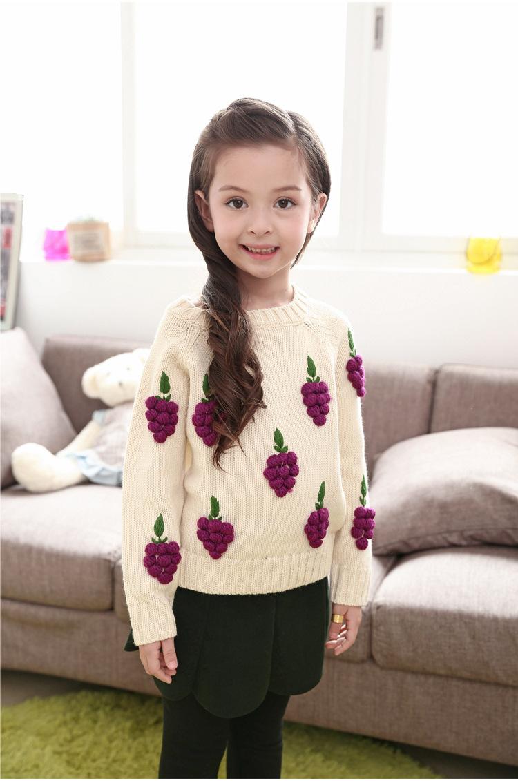 儿童宝宝针织衫立体葡萄韩版套