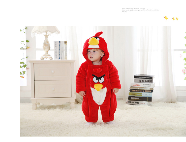 (有70码3件)婴儿衣服童装新生儿棉衣连体衣加厚秋冬装