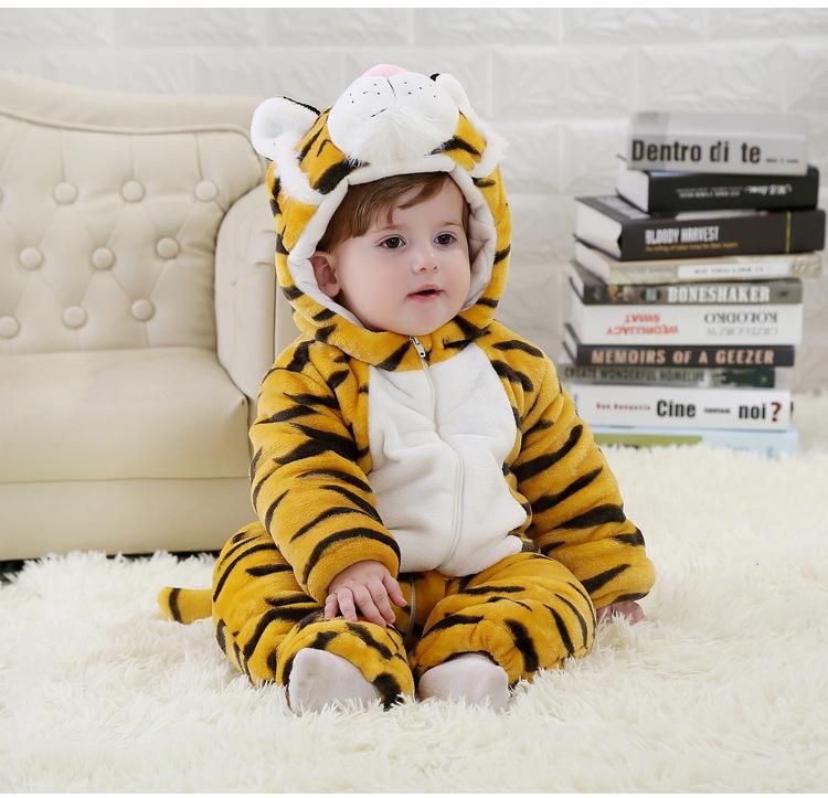 【下架】婴儿服装动物造型连体衣冬季宝宝衣服老虎